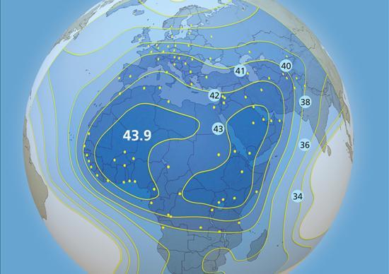 Arabsat 5C, Std. C-Band, Downlink