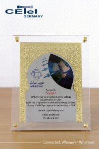 "Arabsat awarded CETel as ""the best customer following ARABSAT Space segment Access Procedures in 2015""."
